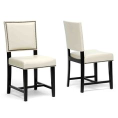 Wholesale Interiors Nottingham Cream Modern Dining Chair - Set of 2 Cheap Dining Room Chairs, Modern Dining Chairs, Dining Room Sets, Kitchen Chairs, Upholstered Dining Chairs, Dining Chair Set, Dining Area, Dining Tables, Kitchen Furniture