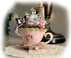 Fairy Tea Cup **SCRAPS OF ELEGANCE** May Kit-Yesterdays - Scrapbook.com