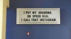Grandma's new number: