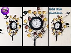 Wall Clock Decoration Fashion Pixies Wall Decoration Ideas Hand
