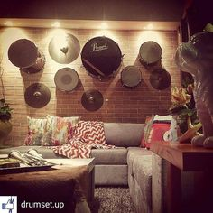 "Drum. Eat. Sleep. Repeat. (@drumeatsleeprepeat) on Instagram: ""Drum wall!"" #repost #drumsetup"