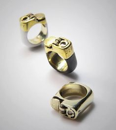 Pyro' Lighter Ring by MyCharmOffensive on Etsy, £16.00