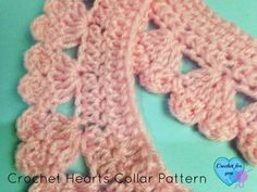 Crochet Edging And Borders Ravelry: Hearts Collar and Edging pattern by Erangi Udeshika Crochet Boarders, Crochet Edging Patterns, Crochet Lace Edging, Crochet Afghans, Crochet Flowers, Crochet Edgings, Crochet Hearts, Crochet Edges For Blankets, Loom Patterns