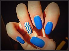 #manicure #blue #sky #waves #perfect #nails