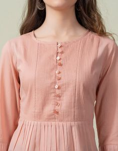 Plain Kurti Designs, Simple Kurti Designs, Kurta Designs Women, Stylish Kurtis Design, Stylish Dress Designs, Couture, Girls Frock Design, Kurta Neck Design, Sleeves Designs For Dresses