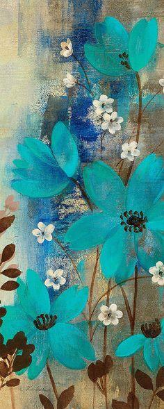 Floral Symphony II by Silvia Vassileva Flower Artwork, Diy Canvas Art, Acrylic Art, Watercolor Art, Wall Art Prints, Art Projects, Art Floral, Floral Prints, Lace Painting