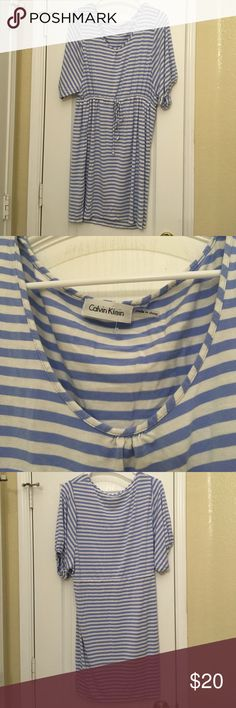 Calvin Klein dress Calvin Klein blue and white cotton dress. Used Calvin Klein Dresses