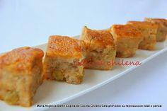 .COCINA CHILENA: COLEGIALES o BUDIN DE PAN Chilean Recipes, Chilean Food, Pan Dulce, Finger Foods, Baked Potato, Quiche, Sushi, Deserts, Muffin