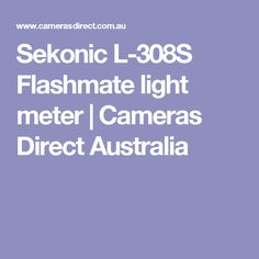 Sekonic L-308S Flashmate light meter   Cameras Direct Australia