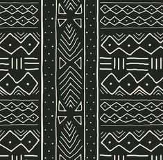African Fabric - Mudcloth In Bone On Ash By Domesticate - African Mud Cloth Gray Cotton & Upholstery Fabric By The Yard With Spoonflower Ethnic Patterns, Textures Patterns, Fabric Patterns, Print Patterns, African Tribal Patterns, Tribal Pattern Art, African Textiles, African Fabric, African Prints