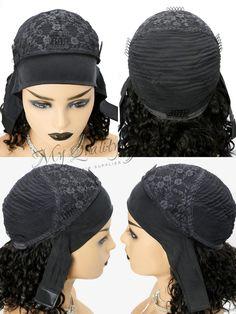 Headband Wig Curly Bob Wigs Beginner Friendly Virgin Human Hair [HW06] – myqualityhair Headband Wigs, Curly Bob Wigs, Hair Quality, Wig Making, Half Up Half Down, How To Make Hair, Protective Styles, Human Hair Wigs, Lace Wigs