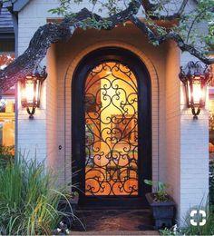 Wrought Iron Door Charlotte NC www. Wrought Iron Door Charlotte N Porte Cochere, Porta Colonial, Iron Front Door, Front Doors, Door Design, House Design, Wrought Iron Doors, Entrance Doors, Doorway