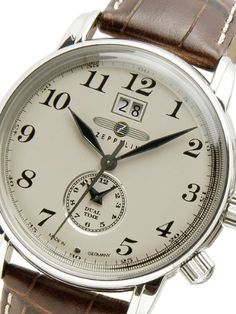 Graf Zeppelin Dual Time, Big Date Watch 7644-5