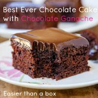 Five minute from scratch Chocolate Cake with Chocolate Ganache