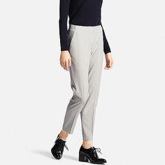 WOMEN Smart Ankle Length Striped Trousers