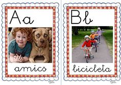 ABC with kids photos on them great idea¡ Catalan Language, Web Gallery, Teaching Writing, Classroom Organization, Diy For Kids, Valencia, 1, Album, Activities