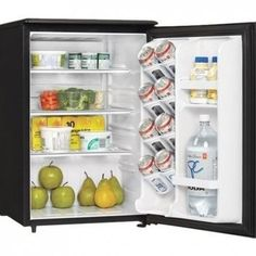 Extend the freshness of your ingredients with this 2.6-cu. ft. Danby Designer compact refrigerator. Three adjustable shelves let you organize various-sized containers, while the in-door storage accommodates tall bottles and canned drinks. This Danby Designer compact refrigerator has a reversible door hinge that lets you open the door from the left or right.