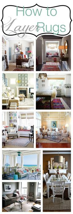 How to layer rugs! Rugs