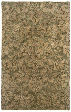 L.R. Resources Inc. Majestic LR9304 Green Rug