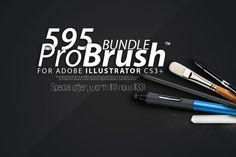 Check out 595 BRUSHES - ProBrush™ BUNDLE -77% by Leonard Posavec on Creative Market