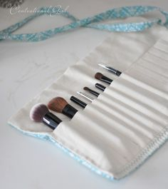 makeup brush holder. made two of these tonight. not very good instructions, wouldnt recommend unless you know how to sew. mine turned out super cute!!