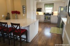 Renovated white kitchen reveal – I love this! | Green With Decor