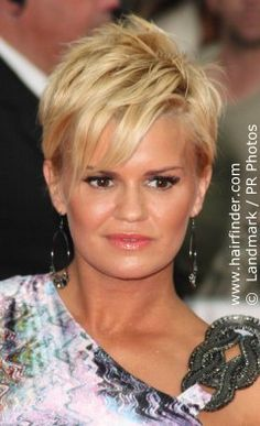 Kerry Katona's choppy short hair