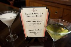"""Brilliant! """"Also, we had time era signature drinks- Ramos Fizz and Basil Gin Gimlets during our happy hour. Our toasting glasses were my Nana's. They are champagne glasses from the 1920′s."""""""