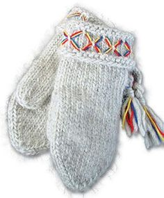 I own these mittens---and have owned the same pair since high school, which is testament to the quality. They are the warmest mittens you can buy, and hand-knit of wool in Sweden. I guard them against loss as much as my wallet. Knitted Mittens Pattern, Knit Mittens, Knitted Gloves, Knitting Patterns, Fair Isle Knitting, Hand Knitting, How To Purl Knit, Knit Purl, Handicraft