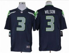 Nike NFL Seattle Seahawks #3 Wilson blue Jerseys(Limited)