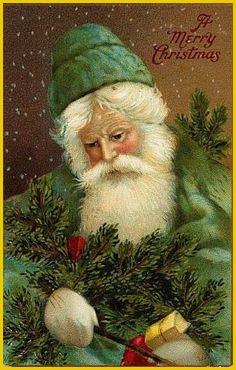 Il mondo di Mary Antony: Santa Claus vintage card