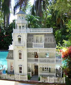 Front - I also pinned the inside of the beautiful dollhouse...................Dollhouse Minis: The Key West Island House ~ Robin Carey