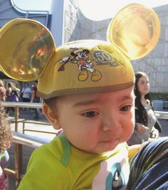 Flashback with a cause sharing my sons first Disneyland visit at 8months old wearing his Gold Mickey ears  #ShareYourEars #disneyland #50thanniversary #mickeyears #MakeAWish #sharingdisney by darkcountess86