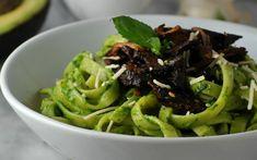 Avocado Pesto Pasta With Shiitake Bacon [Vegan] | One Green Planet