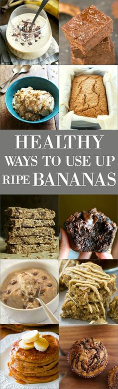 Don't know what to do with those ripe bananas? Or just looking for some crazy good banana recipes? We've got ya covered!