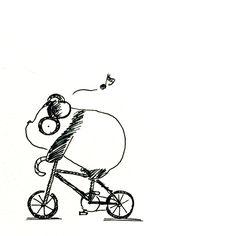 【一日一大熊猫】 2015.8.17 イヤホンで音楽を聴きながら自転車運転は危ないです。 後ろから来る車の音とか聞こえないしね。 それが原因で事故があるのか知らないけど、 自然の音や街の音を聞きながら 落ち着いて運転しよう。 #パンダ #自転車 http://osaru-panda.jimdo.com