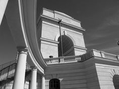 Millenium  Gate in Black and White | Atlanta GA (Atlantic Station) | by Me and My Photos :)