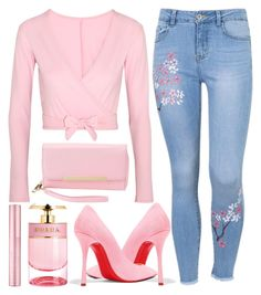 """Saturday style"" by j-n-a ❤ liked on Polyvore featuring Ballet Beautiful, Christian Louboutin, Charlotte Russe and Prada"