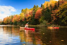 Kayaking in autumn colours on the Fox River