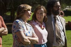 Pin for Later: Return to Camp Firewood With the First Pictures of Netflix's Wet Hot American Summer Show  Nina Hellman as Nancy, Molly Shannon as Gail the crafts teacher, and Judah Friedlander as Ron, Gail's estranged husband.