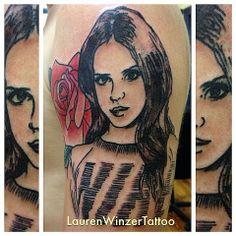 Beautiful Lana Del Ray Colour Portrait Tattoo by Kris ...