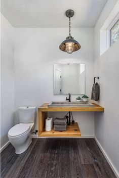 Rustic powder room vanity sunset south united states powder room vanity rustic with wall mirror traditional . Kitchen On A Budget, Home Decor Kitchen, Powder Room Vanity, Powder Rooms, Rustic Powder Room, Floating Bathroom Vanities, Bathroom Ideas, Painted Beds, Healthy Living Tips