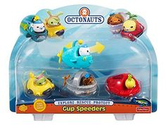 Fisher Price Toy Playset - Octonauts Gup Speeders 4 Pack - Gup-A - Gup-D - Gup-F - Gup-X