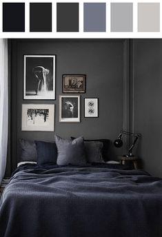 Bedroom color palette - black dark-crimson dark-grayish-lime-green dark-mulberry gamboge light-yellow