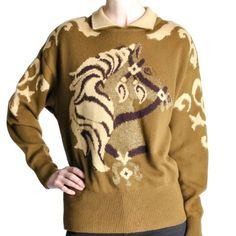 Vintage Escada Will carousel horse sweater Darling vintage sweater from Escada…