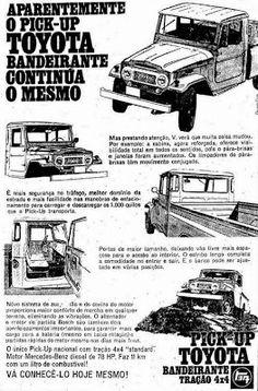 """ANOS DOURADOS: IMAGENS & FATOS: IMAGENS - Carro: TOYOTA """"BANDEIRANTE"""""""