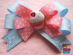 sweet cupcake hair bow clip~0s colorful by icecream_drops, via Flickr