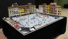 Udine, Italy's Piazza San Giacomo in LEGO