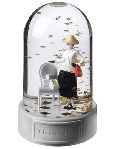 Christian Dior snow globe, exclusively at Printemps.
