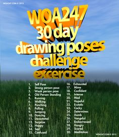 30 Day Drawing Poses Excercise Challenge